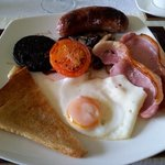 Fantastic full English breakfast