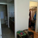 full bath and walk in closet in master