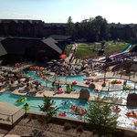 View of Lost World waterpark from my Glacier Canyon Lodge unit