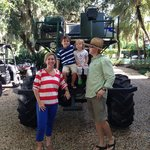 Chef Sally and family before swamp buggy ride.