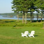 lawn facing the Kennebec River