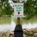Advisory against feeding waterfowl; Oglebay Lake.