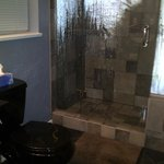 Beautiful tiles and a heated floor in the ensuite