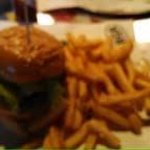 The plain burger, sorry about the quality must have shook the camera. Oh well I have to go back,