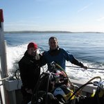 Steve and Rob on board Diving Boat.
