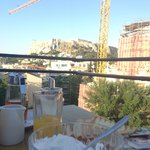 Breakfast on the roof.