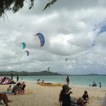 Kite surfing at Kailua Beach