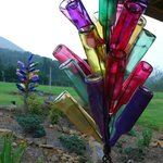 Love the bottle trees and other art at the Vineyard