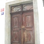 The authentic wooden door at the entrance.And you get your own key for it!