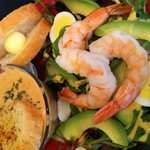 Awesome salad and lobster soup