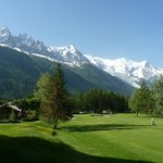 View of Alps and golf course from room