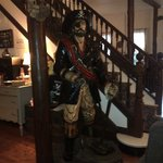 Statue of Blackbeard in the lobby