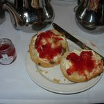Home-made scones, cream and jam