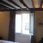 Our pretty room with exposed beams.