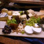 a cheese plate from the dinner buffet