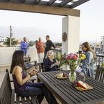 Spend the evening on your private patio ejoying a glass of wine with friends and family.