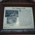 Historical plaque outside the restaurant