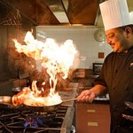 Our head chef cooking up a storm