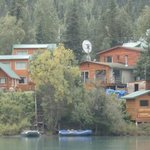 Picture of the lodge from the Kenai River