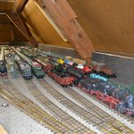 Owner have over more than a kilometer of train collection up in the attic