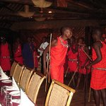 masai dance in restaurant