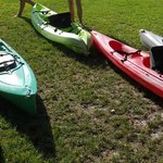 Kayaks - 1 or 2 person - with backrests