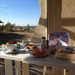 our breakfast by the sea
