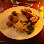 Grilled Italian chicken with raisins rice - great gastronomical experience