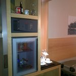 The locker and the minibar