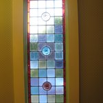 Stained glass window in the room