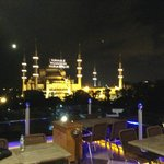 Rooftop view of Blue Mosque