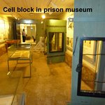Cell block in hotel's prison museum
