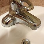 very dirty sink and tap