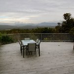 The patio outside the Kereru Room
