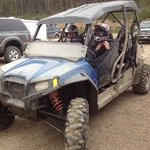 riding te trails in the atv from Spirit Lake Rentals