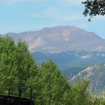 View of Pikes Peak from our GOG RV CAMPSITE