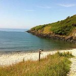 The beach on the coastal path, a nice 15 min walk from Glan House