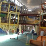One of the Kiddie pools in the Indoor Water Park