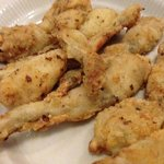 frog legs in heavy batter