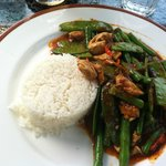 Red curry, and yes it is very spicy.