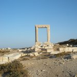 The Teble of Apollona at chora port of Naxos