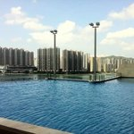 Olympic size rooftop pool