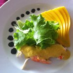 Paladar Restaurant - Lobster w/Mango & Curry Sauce