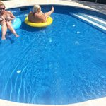 the paddling pool.