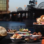 Oriental dining by the pool at Aura Restaurant and Lounge