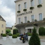 Hotel Lameloise and convenient parking for our treasured vehicle