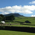 view from the guest house of Pen-y-Ghent