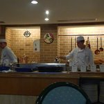 Two of the Chef's, hard at it!