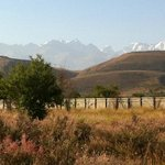 View of Tien-Shan Mountains from Jannat Regency, Bishkek