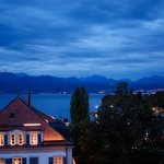 angleterre at night, evian across the water